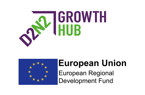 Growth Hub - ERDF Logo